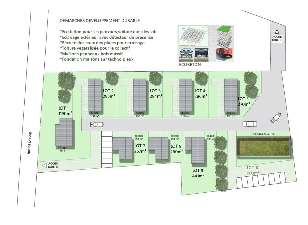 Construction de 8 maisons individuelles et de 2 immeubles - Plan de masse maison individuelle ...